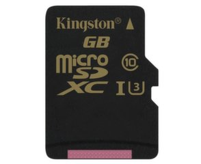 Atminties kortelė Kingston 64 GB microSDXC Class U3 UHS-I 90R/45W su adapteriu