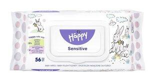 Drėgnos servetėlės vaikams Happy su alavijo ekstraktu 56 vnt kaina ir informacija | Drėgnos servetėlės, paklotai | pigu.lt