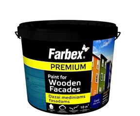 Dažai mediniams fasadams Farbex, žali (RAL 6005), 12 kg