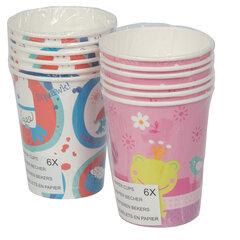 Vienkartiniai puodeliai , 6 vnt. kaina ir informacija | Dekoracijos, indai šventėms | pigu.lt