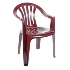 Plastikinė kėdė Cyrkon, tamsiai raudona