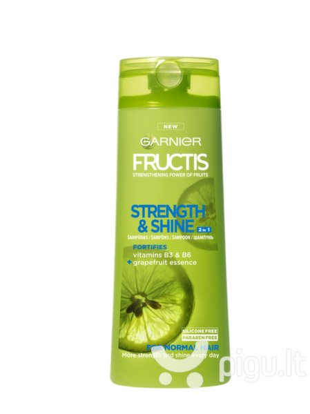 Šampūnas normaliems plaukams Garnier Strenght and Shine 250 ml