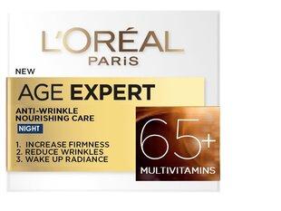 Maitinantis naktinis kremas nuo raukšlių L'Oreal Paris Age Specialist 65+ 50 ml