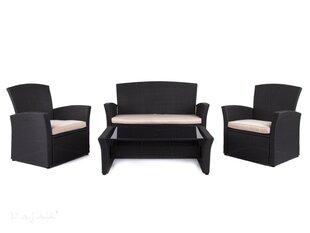 Lauko baldų komplektas Alaska 110 cm, juodas kaina ir informacija | Lauko baldų komplektai | pigu.lt