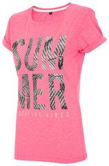 Marškinėliai moterims 4F TSD020A kaina ir informacija | Marškinėliai moterims | pigu.lt