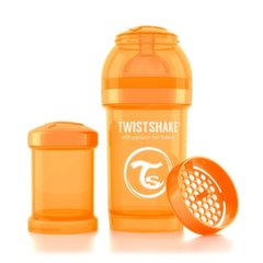 Buteliukas Twistshake Anti-Colic, 180 ml, Orange