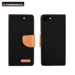 Forcell Canvas Flexi Flip book case Samsung G390F Galaxy Xcover 4 Black
