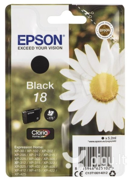 Epson - Tusz T1801 BLACK 5.2ml do XP-30/102/20x/30x/40x