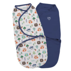 Vystyklas-kokonas Summer Infant SwaddleMe, 2 vnt., S dydis, Into the Woods