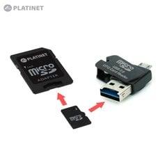 Platinet PMMSD16CR4 4in1 16GB USB laikmena + Micro SD kortelė + micro USB OTG skaitytuvas telefonams ir planšetiniams kompiuteriams