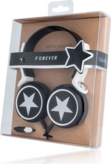 Forever CM-410 All Stars Universal Headphones with Microphone Black + Bag