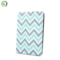"GreenGo Universal 9-10"" Tablet PC Eco Leather Book Case Zigzag Grey/Green"