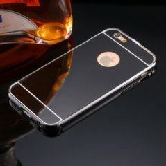 Mocco Mirror Silicone Back Case With Mirror For Samsung G930 Galaxy S7 Black