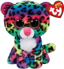 Pliušinis žaislas Ty Beanie Boos DOTTY spalvotas leopardas, 15 cm, TY37189
