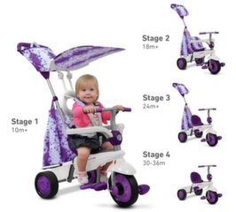 Triratukas SMART TRIKE Spirit violetinis