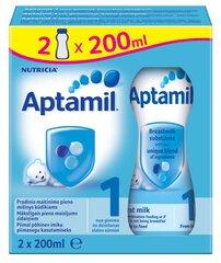 Pradinio maitinimo pieno mišinys Aptamil 1, 0 mėn+ 400 ml