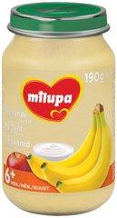 Tyrelė su bananais, obuoliais ir jogurtu Milupa, 6 mėn+, 190 g