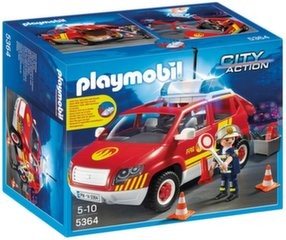 Конструктор 5364 PLAYMOBIL® City Action, Fire Chief´s Car with Lights and Sound