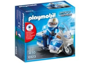 6923 PLAYMOBIL® City Action, Policijos motociklas su LED šviesomis