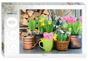 """Dėlionė Step Puzzle 560 """"Pavasarinės gėles"""""""