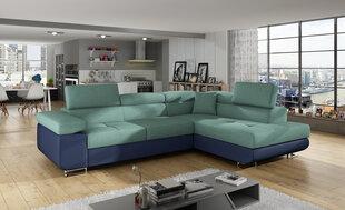 Minkštas Kampas Anton, žalias/mėlynas kaina ir informacija | Sofos, foteliai ir minkšti kampai | pigu.lt