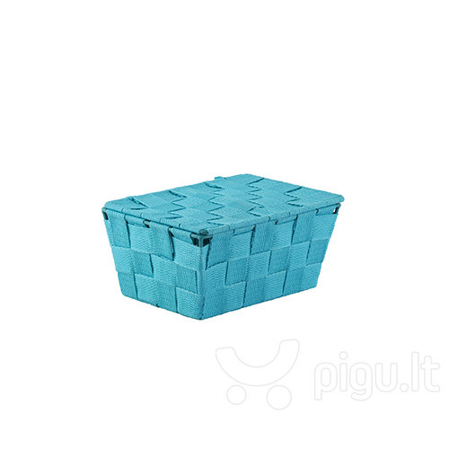 Vonios krepšys - dėžutė su dangčiu Scandi, mėlyna