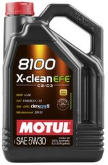 Alyva Motul 8100 X-Clean Efe C2/C3 Synthetic, 5W30, 5L