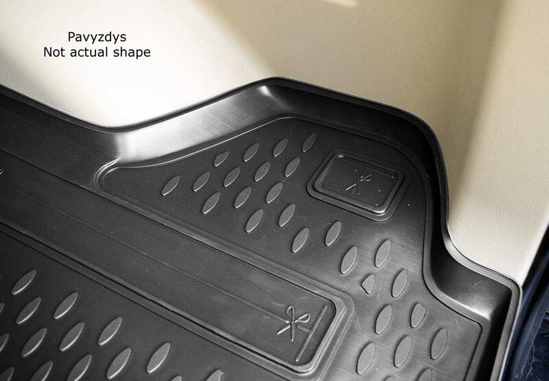 Guminis bagažinės kilimėlis CITROEN C4 Grand Picasso 2006-2013 (7 seats) black /N08013