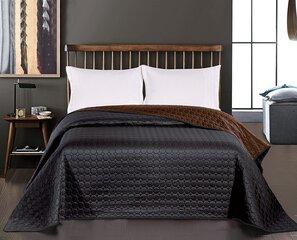 Dvipusė lovatiesė Salice  Black Brown, 240x260 cm