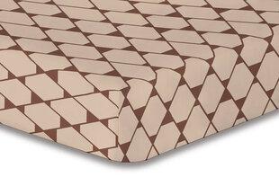 DecoKing mikrofibros paklodė Hypnosis Collection Rhombuses 1 Braun, 160x200 cm