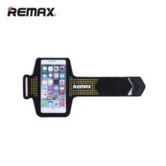 Remax Universal (15,5x7,5cm) Armband Mobile Phone Pouch Case for Sport - Fitness Running Black/Yellow