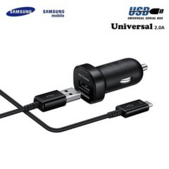 Samsung EP-LN930 Universal 2A 18W USB Car Quick Charger + Type C Data & Charger S8 / S8+ Cable Black (OEM)