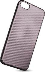 Mocco Carbon Premium Series Back Case Silicone For Samsung A320 Galaxy A3 (2017) Silver kaina ir informacija | Telefono dėklai | pigu.lt