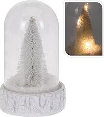 Šviečiantis stiklinis sniego burbulas kaina ir informacija | Kalėdinės dekoracijos | pigu.lt