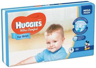 Sauskelnės HUGGIES Ultra Comfort Boys Mega, 4 dydis, 66 vnt.