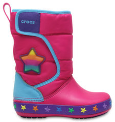 Crocs™ LED aulinukai mergaitėms LodgePt Lights Star, Multi Stars