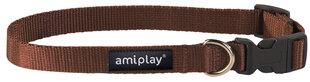 Amiplay reguliuojamas antkaklis Basic, S, rudas   kaina ir informacija | Pavadėliai, antkakliai, petnešos šunims | pigu.lt