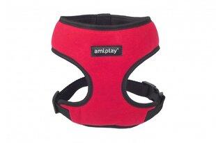 Amiplay petnešos Scout Denver, XL, raudonos kaina ir informacija | Pavadėliai, antkakliai, petnešos šunims | pigu.lt