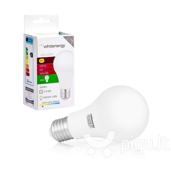 LED lemputė WHITENERGY E27 8W 10388