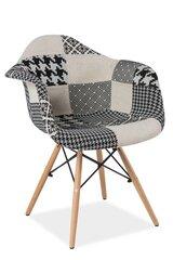 2-jų kėdžių komplektas Denis B, juodas/baltas kaina ir informacija | Virtuvės kėdės | pigu.lt