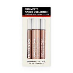 Skystų lūpų dažų rinkinys Freedom Pro Melts Naked Collection