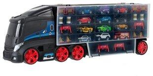 Sunkvežimis Smiki su 12 automobilių