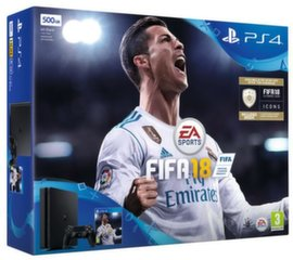 Sony PlayStation 4 (PS4) Slim, 500GB + Fifa 18