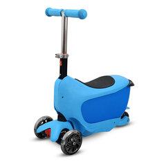 Triratis paspirtukas su sėdyne Buddy Toys Taman 2in1 Flash Blue