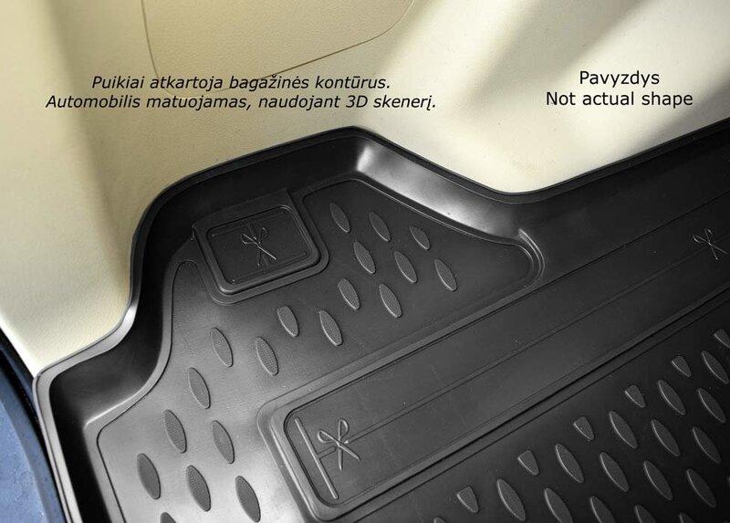 Guminis bagažinės kilimėlis ALFA ROMEO 159 sedan 2005-2011 black /N02002