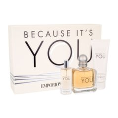 Rinkinys Giorgio Armani Emporio Because It´s You: EDP moterims 100 ml + EDP 15 ml + kūno losjonas 75 ml
