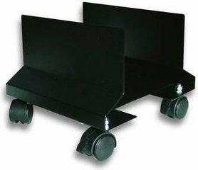 Techly CPU Steel Holder with Wheels, Black (303294)