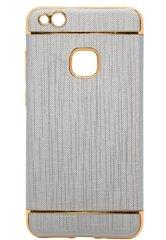 Prekė su pažeista pakuote. Mocco Exclusive Crown Back Case Silicone Case With Golden Elements for Samsung J327 Galaxy J3 Grey