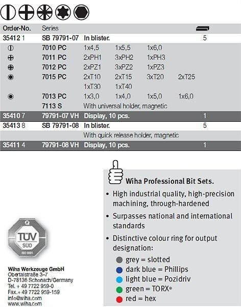 Antgalių rinkinys WIHA BitBox (31 vnt.) kaina