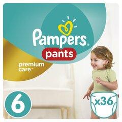 Pampers sauskelnės Premium Pants, 6 dydis, 15+ kg, 36 vnt.